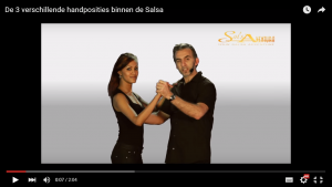 Ballroom positie van de handen