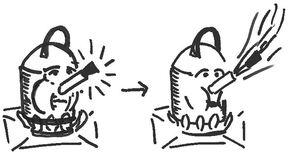 Hou een gezonde druk op de ketel