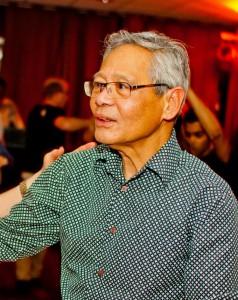 Walter in actie tijdens de Salsaclub op zondag in Snowworld.