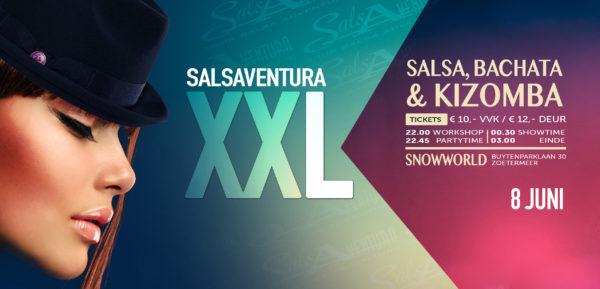 Salsa, Bachata of Kizomba dansen? Kom naar Salsaventura XXL!