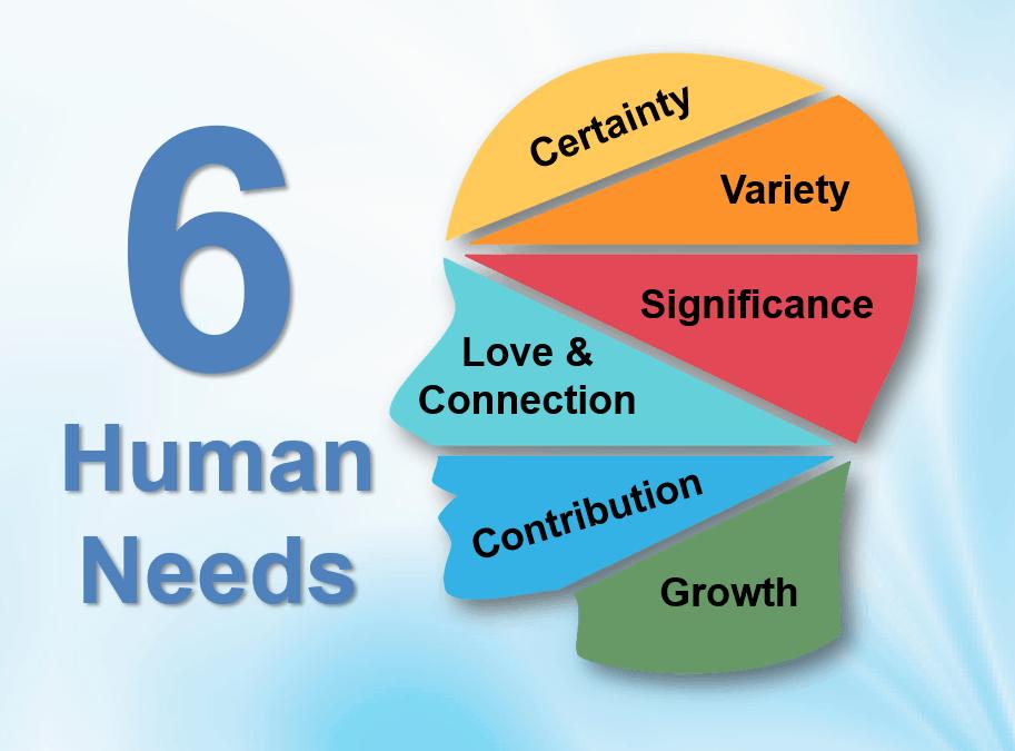 De 6 menselijke behoeftes als levensles